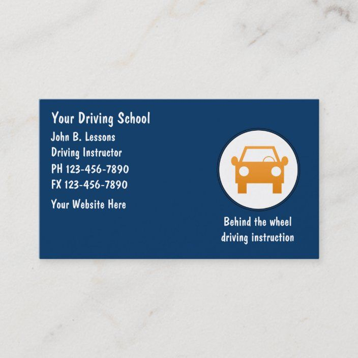 Driving School Business Cards Zazzle Com In 2021 Driving School Driving Instructor School