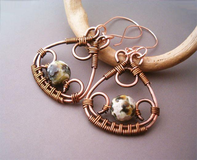 Wire Wrapped Earrings by bleek70 on deviantART
