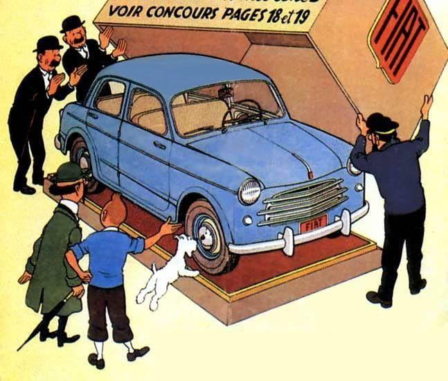 Hergé, Fiat 1100/103