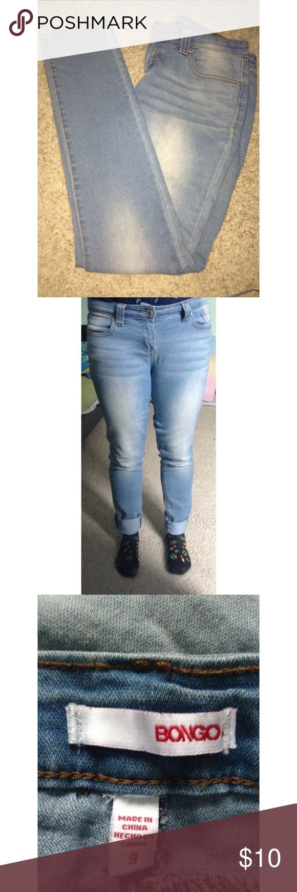Brand New Light Blue Skinny Jeans They're brand new. I don't fit in them very well. They're soft and comfortable jeans. I folded up the ends of the legs in the photo. BONGO Pants Skinny