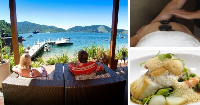 Ex Wellington, cruise across on the interislander ferry in the premium lounge, stay three nights in a one bedroom apartment, gourmet breakfasts daily and a choice of activity as you prefer (wine tour, fish, spa or cruise). Fly back to Wellington on Sounds air.