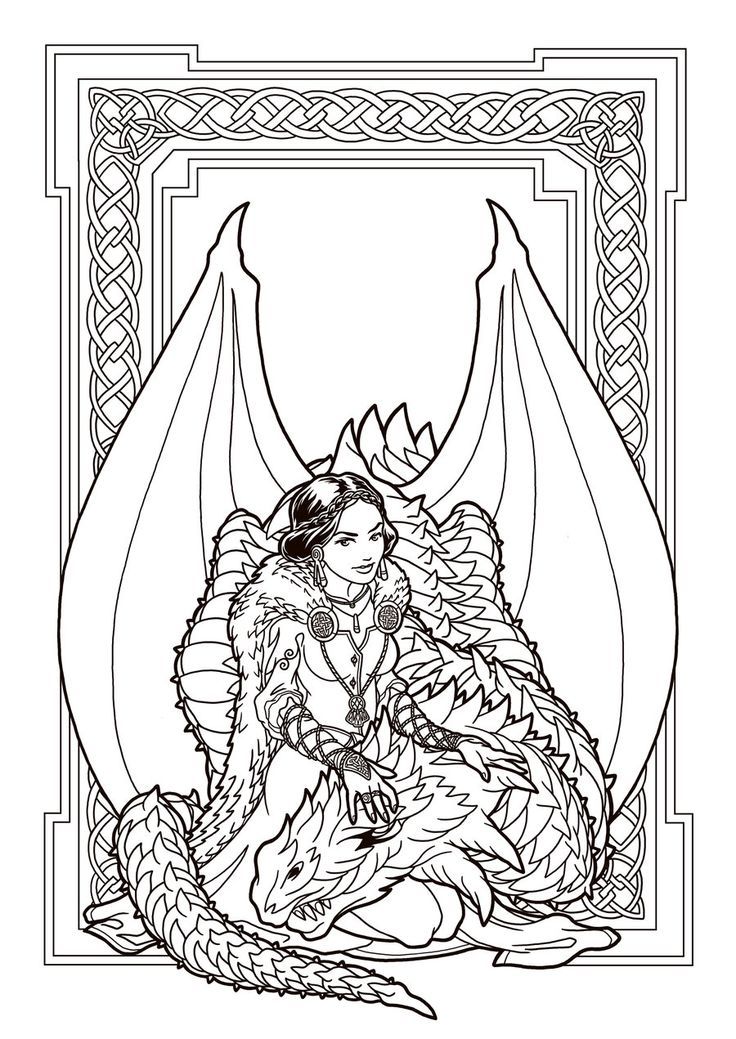 Dragon Enchantress lines by deviantAshtarethdeviantart