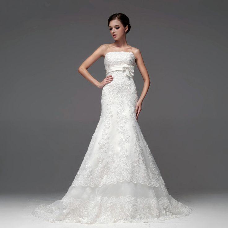 Beautiful Sleeveless with Dropped waist wedding dress