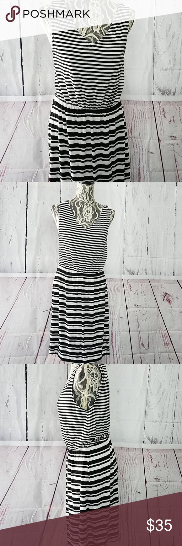 Rachel by Rachel Roy Vneck Stripped Dress Vneck nice spring summer dress with ti…