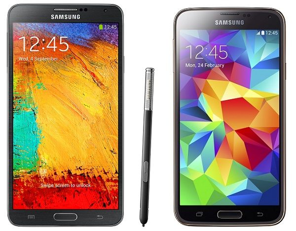 Samsung Galaxy S5 vs Note 3: Design, Specs, Camera, Features