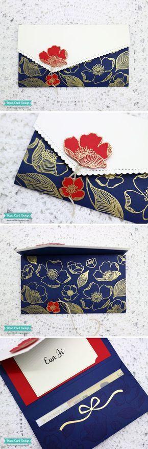 Dana Card Design: Gift Certificate, Money Envelope Card  Altenew Adore You stamp set