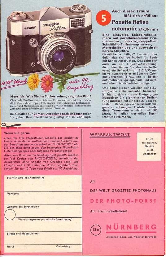 Photo-Porst Prospekt 1959
