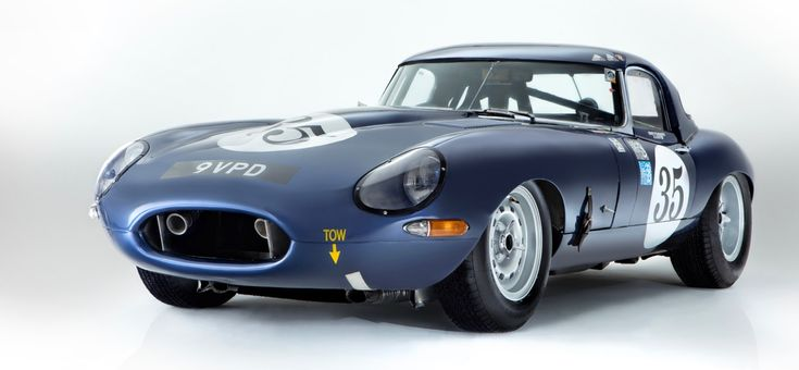 Historic E-type racer goes at show, then to auction