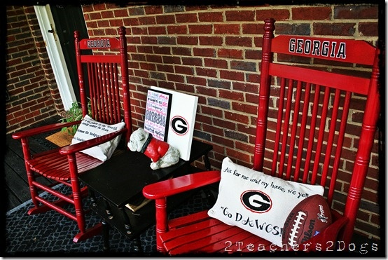UGA porch.... so festive!