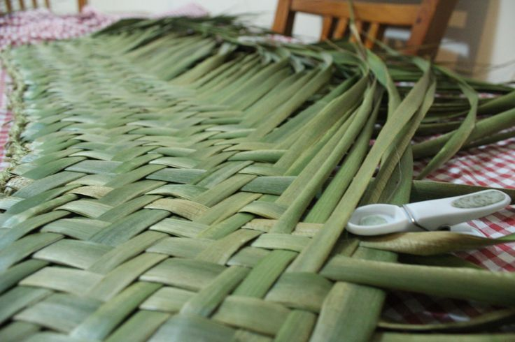 Harakeke (Flax) Whariki (Mat) Weaving at home by Jackie Wallace.