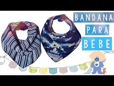 COMO HACER UN BANDANA PARA BEBES (PATRON GRATIS)   Danii's Ways ♡ - YouTube