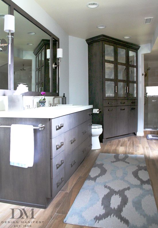 166 best bathroom reno ideas images on pinterest for Grey wood floor bathroom