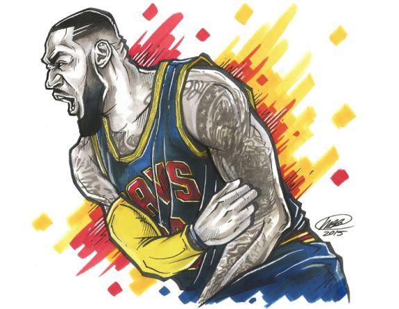 LeBron James Monstropolous Illustration (Basketball Fondos)