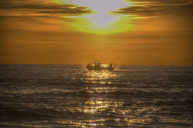 fishers on sunset by lozio