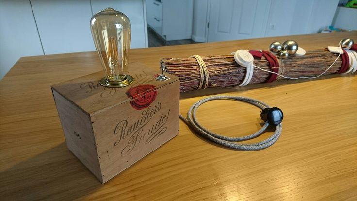 Zigarrenkiste / Tischlampe /Vintage / Edison / Cigar Box / Lamp / diy