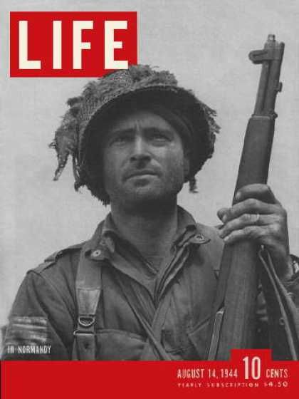 Life - Airborne infantry officer in Normandy, August 14, 1944
