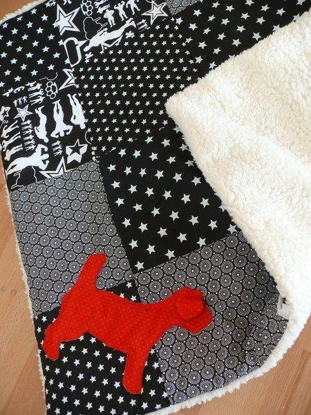 """Hunde Decke Plaid for Dogs """"Weihnachts Stern"""" von stitchbully.de auf DaWanda.com"""