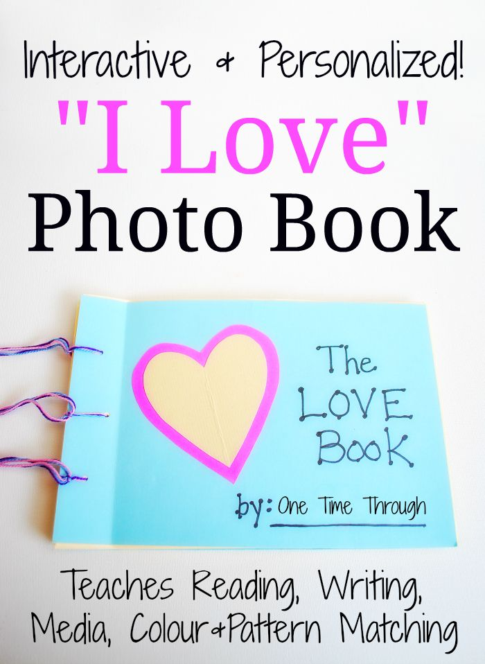 This personalized and interactive love photo book focuses on all the things that your child LOVES, and is a lot of fun to make and read with your toddler or preschooler. Trust me – it'll become a favourite read for months! (If not years…) It also helps to teach reading, writing, media, colour and pattern matching! from One Time Through #booksforkids