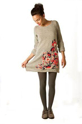 María Cielo: Vestidos sweaters de Paradisos tejidos