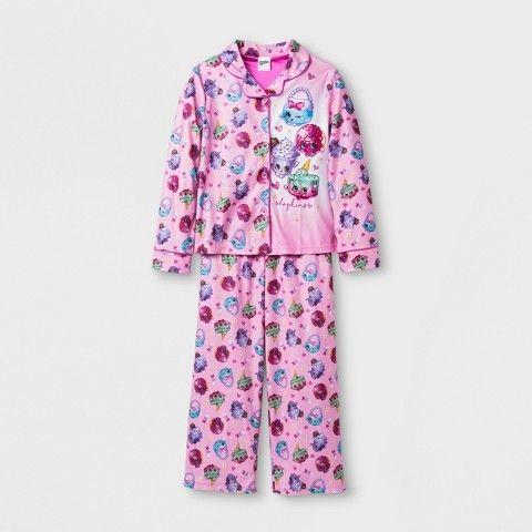 Shopkins Girls' Shopkins 2 Piece Pajama Set - Multi-colored