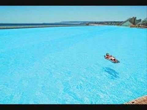 This is a video of the worlds biggest swimming pool.  Located in Alfonso del Mar,Chile.    ~~~  AMAZING!!