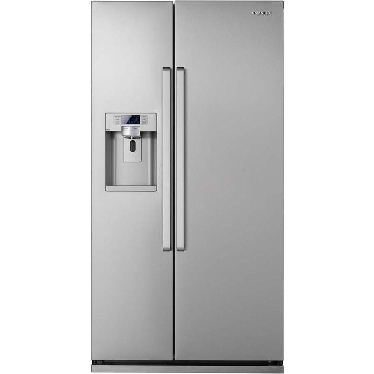 American Fridge With Ice Dispenser Part - 33: Samsung Stainless Steel American Style Fridge Freezer RSG5UCSL