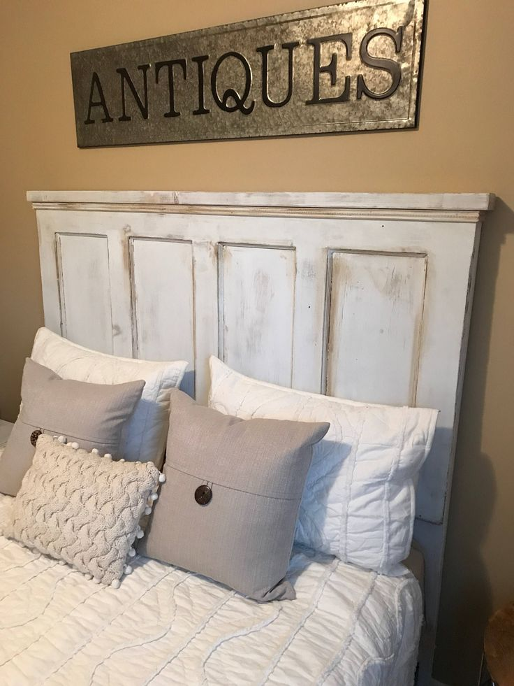 Antique Door Headboard. Queen Headboard. King Headboard. Rustic Home Decor. Vintage Headboard. by SycamoreStVintage on Etsy https://www.etsy.com/listing/554850507/antique-door-headboard-queen-headboard