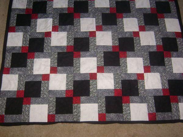 BLACK, WHITE, GRAY, & RED