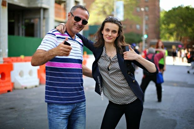 MODELS JAM: Erjona Ala ( and dad), New York, September 2013