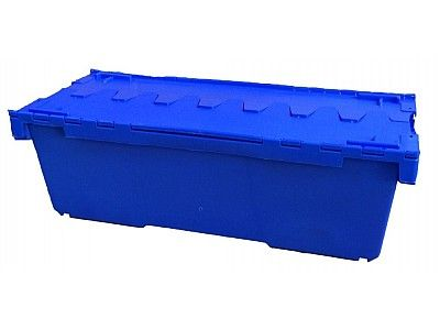 135 Litre Extra Long Stack - Nest Attached Lid Container - Lidded Plastic Storage Box