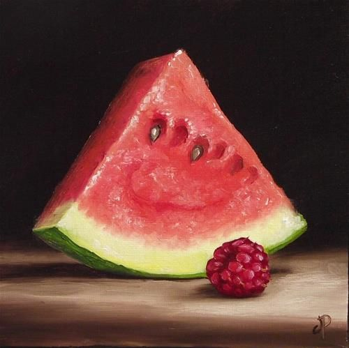 Jane Palmer | OIL | Watermelon and Raspberry II