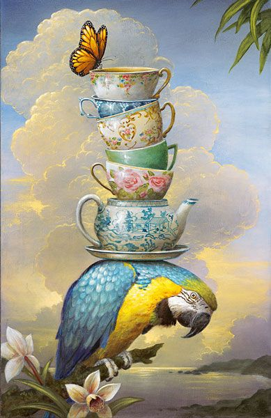 Kevin Sloan: Paintings Art, Puzzles Pieces, Oil Paintings, Teas Time, Art Paintings, Burden, Kevin Sloan, Saatchi Online, Jigsaw Puzzles