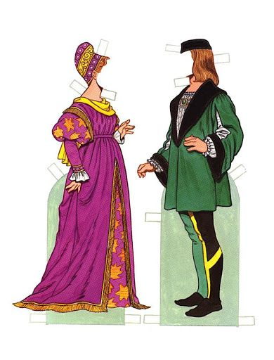 000 Italian Renaissance Costumes paper dolls by Tom Tierney