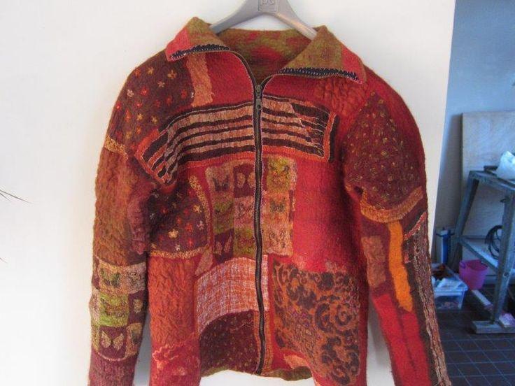 Felted jacket made by Marjo Lelie