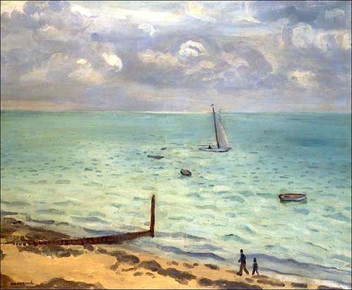 "Albert Marquet (French, 1875-1947),   ""La plage du Pyla"" (The beach of Pyla)"