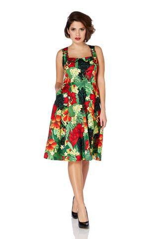 Voodoo Vixen Floral Tiki Dress