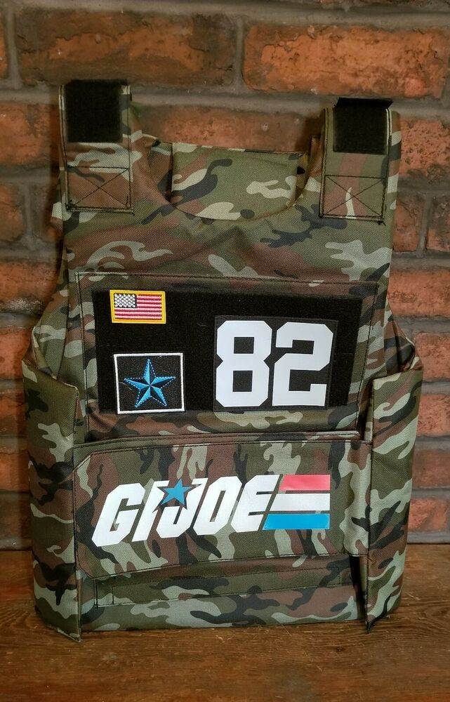 Details about GI Joe Vest Bullet Proof Style Tactical Army