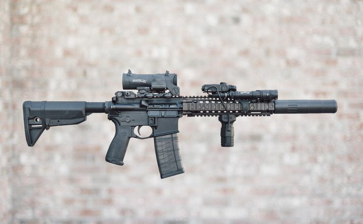 "Daniel Defense MK18 + AAC M4-2000 #Fight The Noise ""Find our speedloader now!  http://www.amazon.com/shops/raeind"