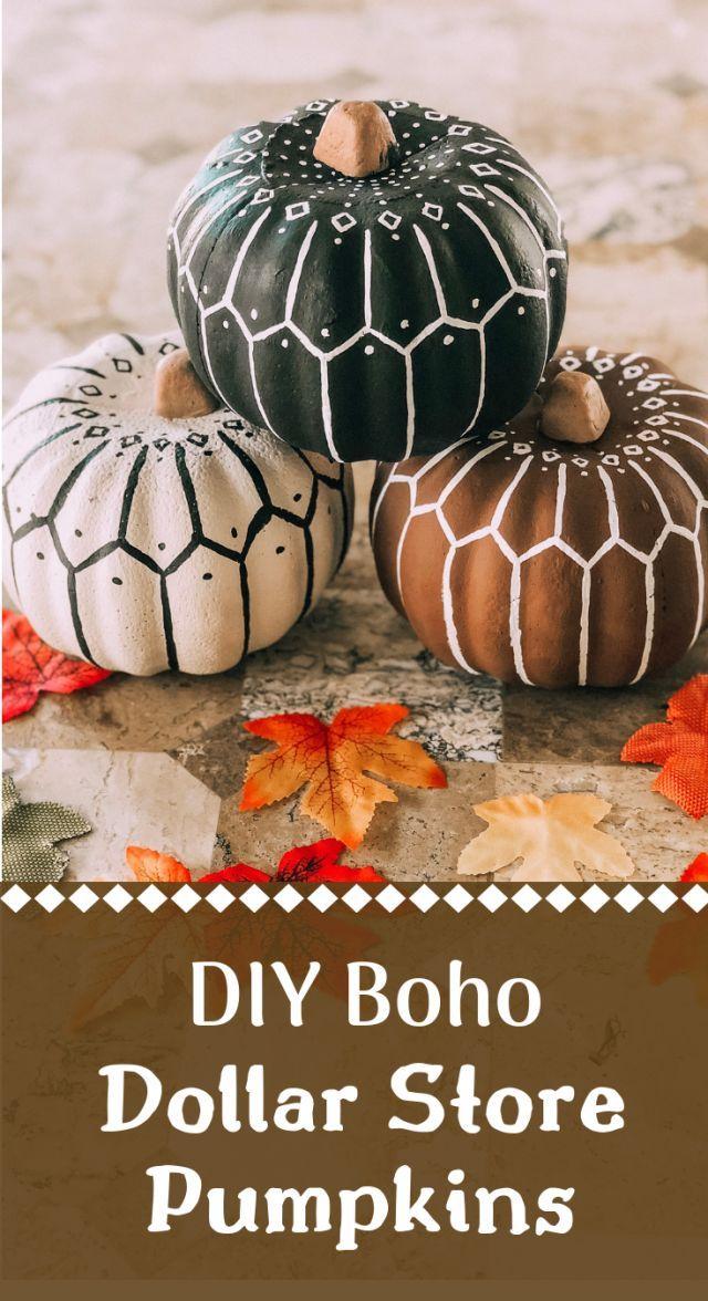 DIY Dollar Store Bohemian Pumpkins tutorial | Easy…