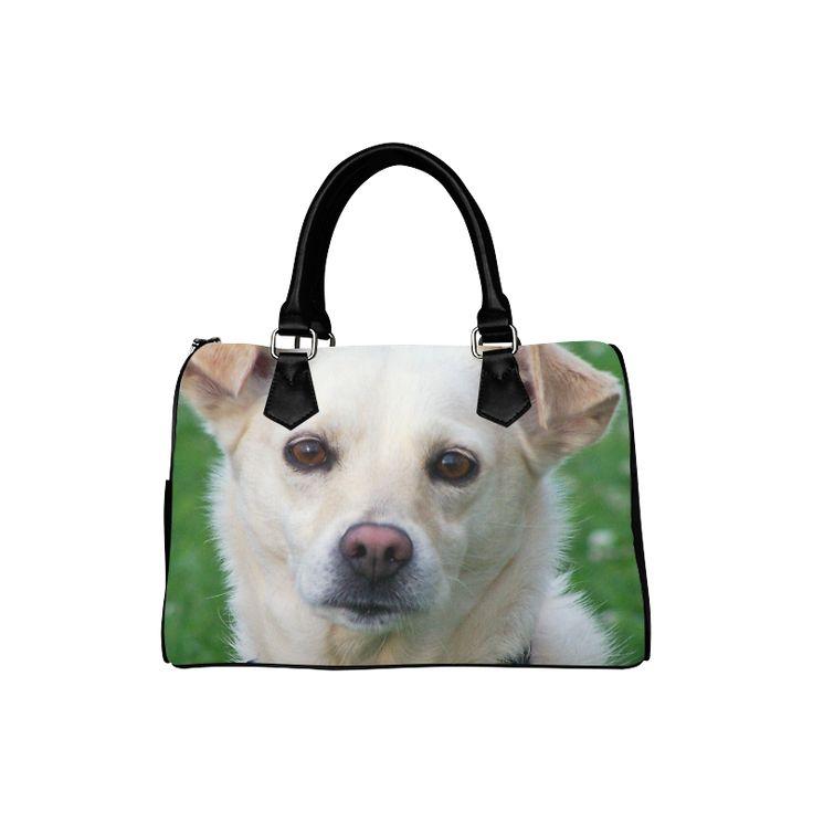 Dog face close-up Boston Handbag (Model 1621)