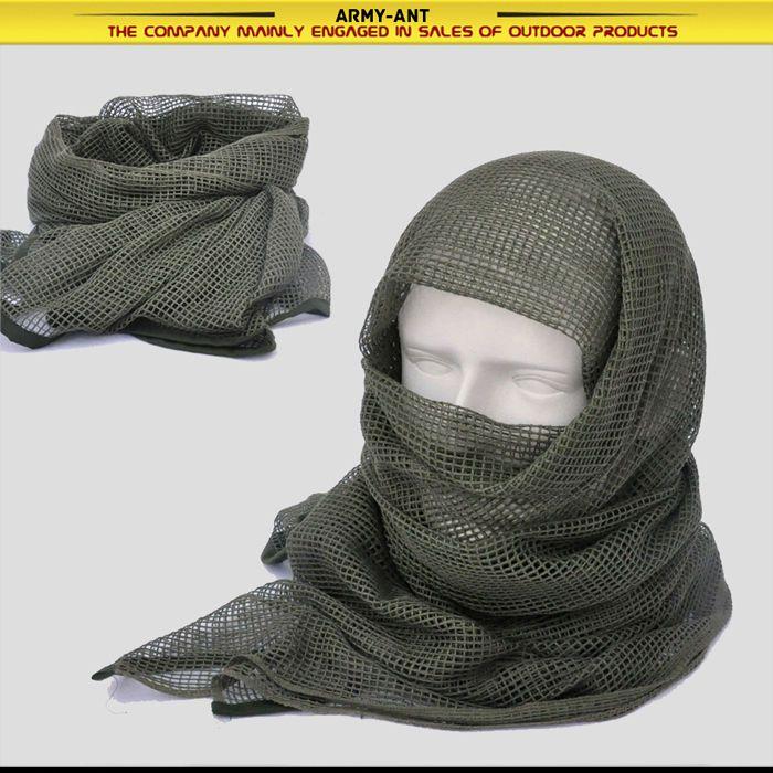 Verde oliva táctico de malla de algodón Bufanda Wrap cara cubierta Máscara Shemagh Sniper Veil   Objetos de colección, Objetos militares, Excedentes   eBay!