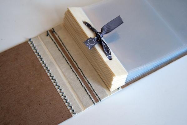 great idea for mini album binding