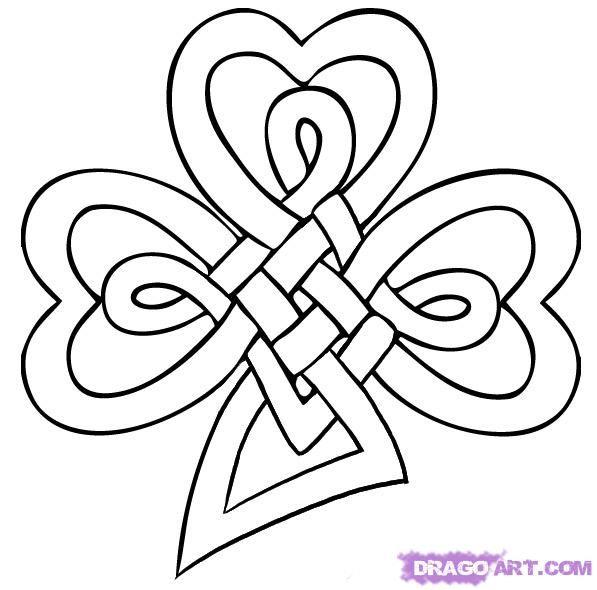 clover tattoo design drawings | Celtic Shamrock Tattoo Designs High Cross 4 Leaf Clover