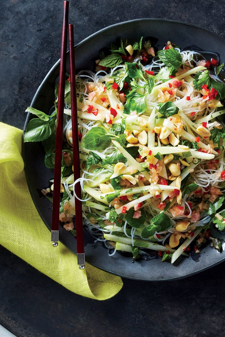 Glass Noodles with Green Papaya, Peanuts, and Chili Vinaigrette | MyRecipes