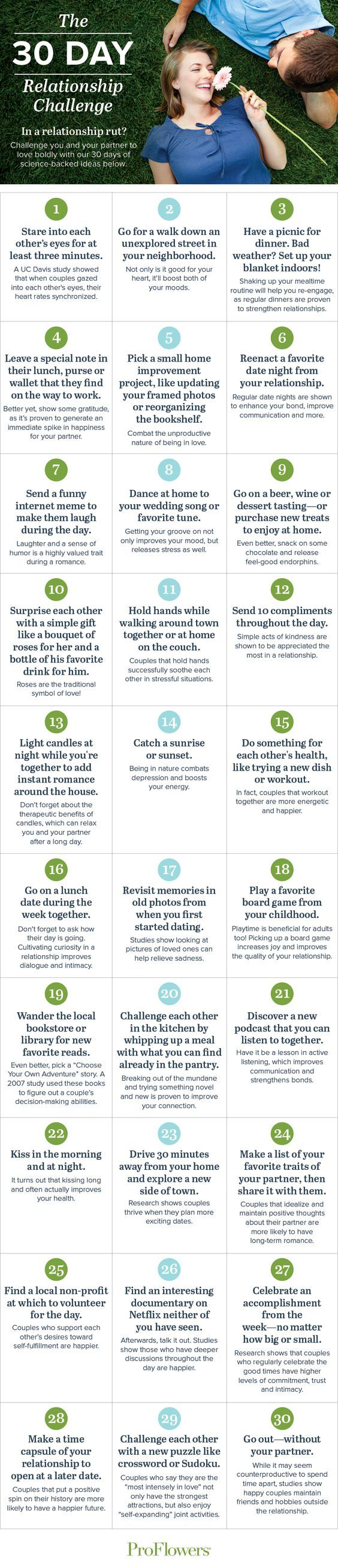 We're here to challenge you and your partner to love boldly with our 30 day relationship calendar. Bring the fireworks back to your relationship!