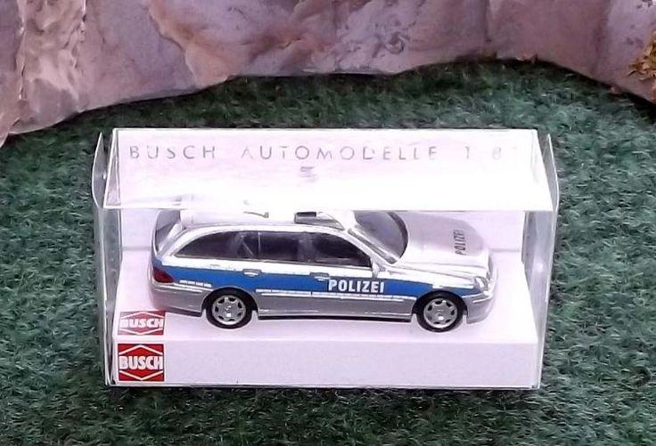 "Busch Modellauto 49456 ""Polizei MB E-Klasse"" in OVP wie neu"