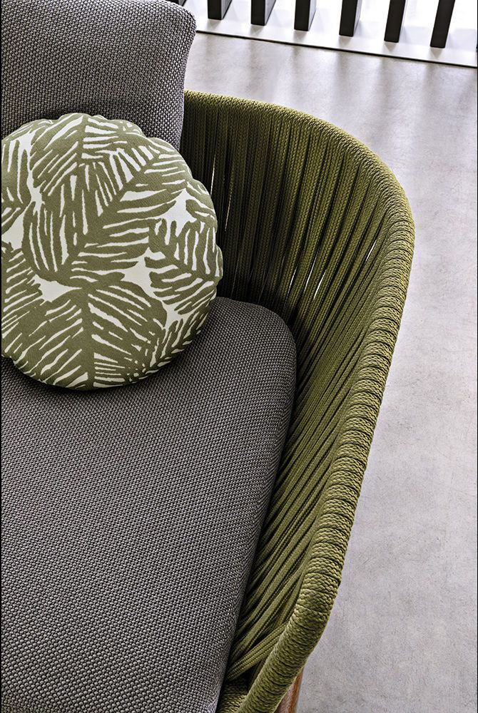 Modular sofa / contemporary / outdoor / fabric - INDIANA - Minotti