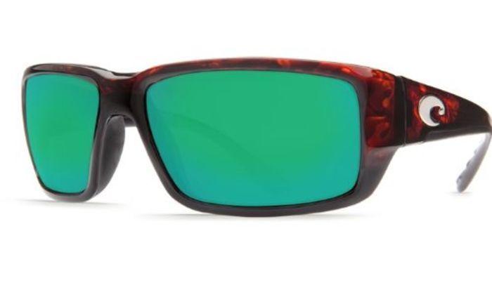 Cheap Costa Fantail 580g Camo Sunglasses | New Costa Del Mar Fantail 580G Tortoise/Green Mirror Polarized Lens 60mm Sunglasses