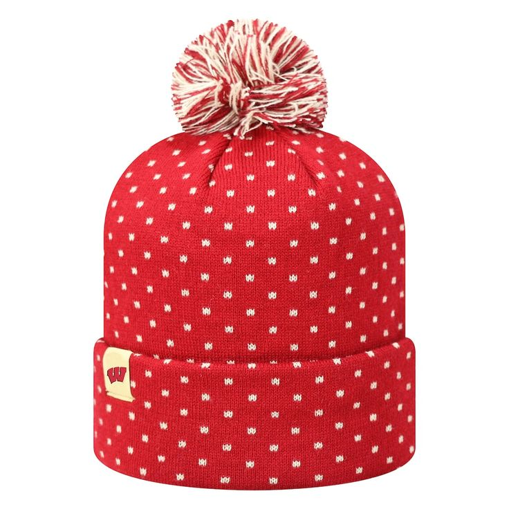 Adult Top of the World Wisconsin Badgers Firn Beanie, Adult Unisex, Red