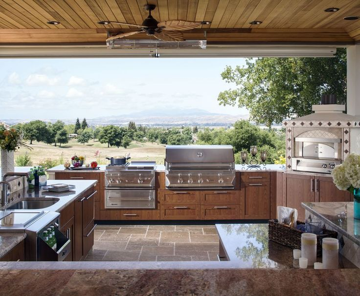 306 Best Outdoor Kitchen Images On Pinterest  Outdoor Cooking Endearing Outdoor Kitchen Layout 2018